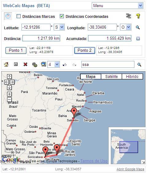 WebCalc Mapas